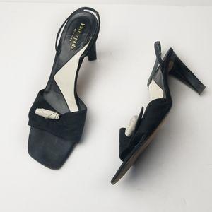 Kate Spade New York Canvas Slingback Heels Sandals